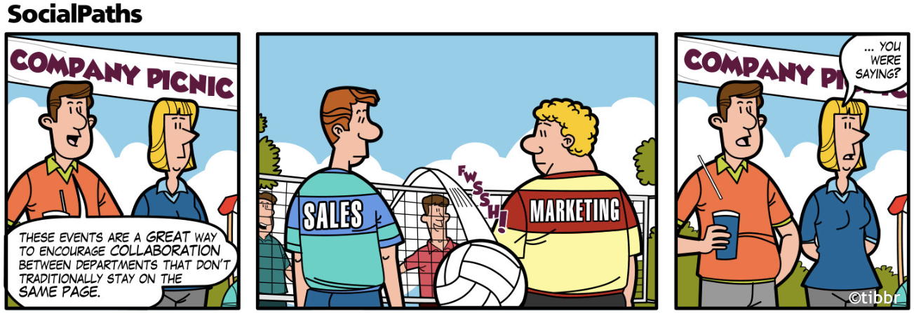 Sales and marketing will they ever get along the for Advertising sales companies