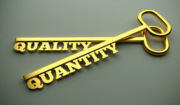 "quality vs quantity August 27, 2013 the debate rages: is it quality, or quantitywhat's the objective if you live in the ""developing world"" (our euphemism for billions whose needs are great, and whose supplies are minimal), quantity is the hands-down winner."