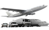 plane, truck, container