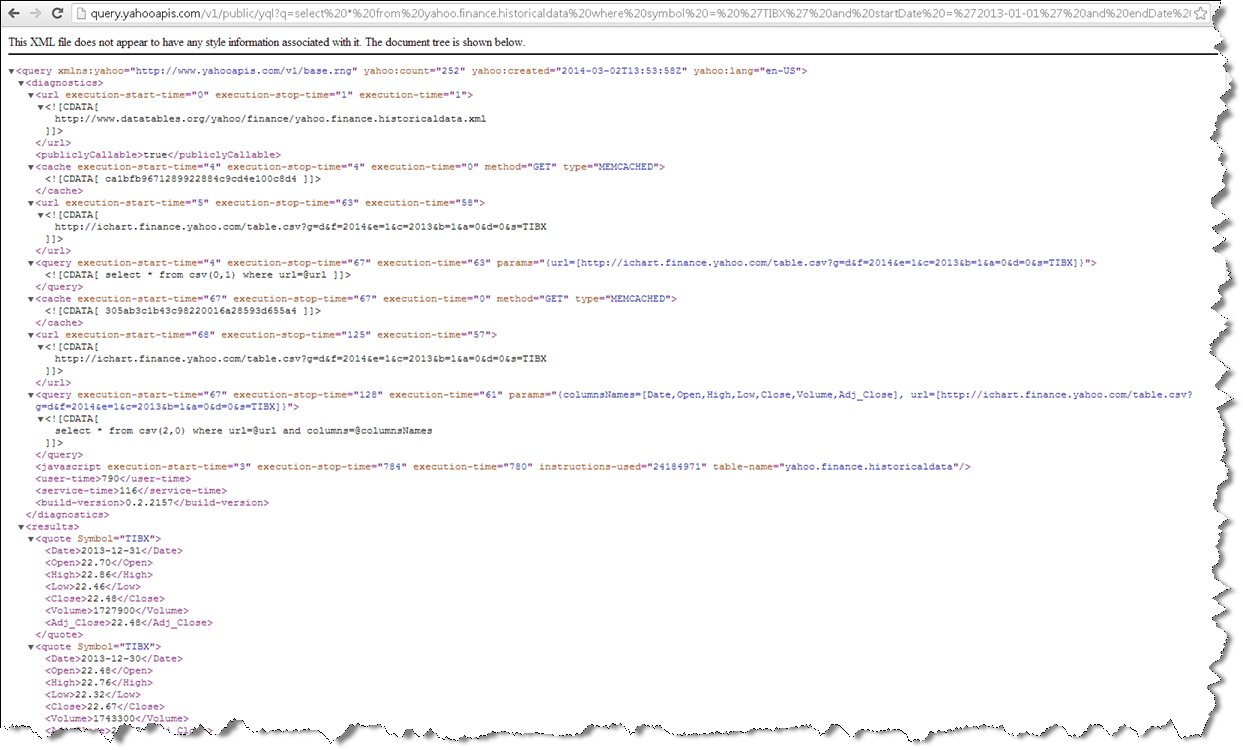 Loading XML and JSON Data from the Web directly into