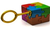 puzzle with key