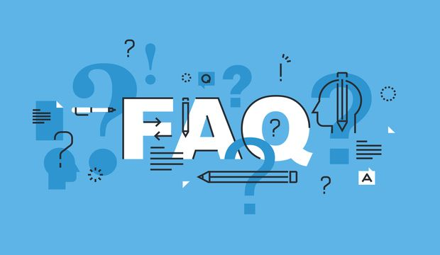 Thin line flat design banner for FAQ web page, online support, help, product and service information. Modern vector illustration concept of word FAQ for website and mobile website banners, easy to edit, customize and resize.
