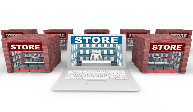rsz bigstock online vs brick and mortar sto 8033247 Omni Channel Experience Means So Much More Than Online Shopping