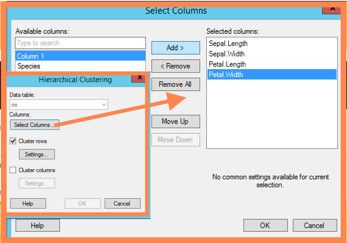 HC select columns Spotfire Tips & Tricks: Hierarchical Cluster Analysis