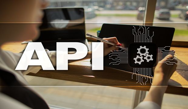 Application programming interface. API. Software development concept