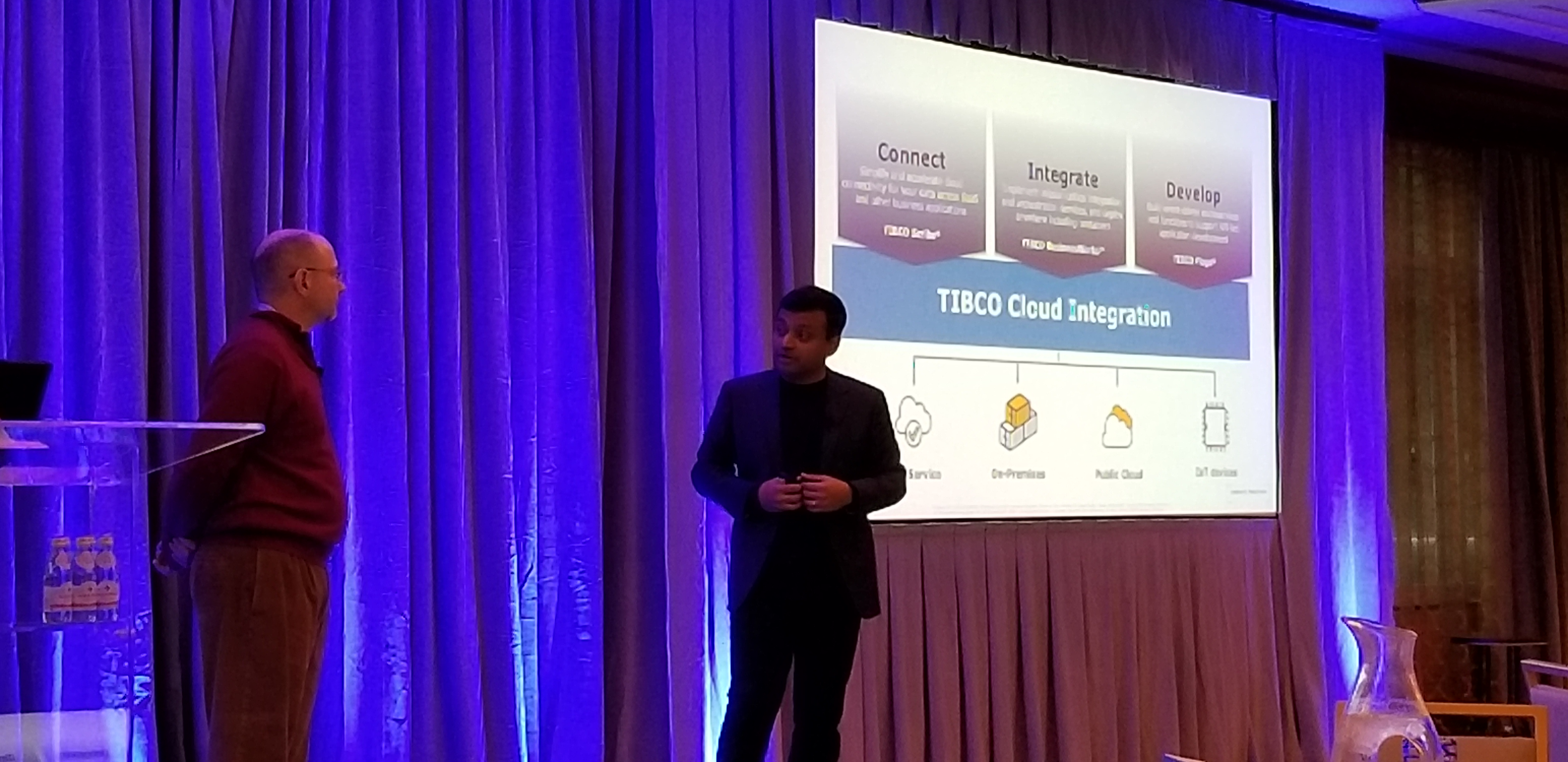 Rajeev Kozhikkattuthodi VP of Product Management and Todd Bailey, Director of Product Management sharing what's new for TIBCO Cloud Integration.