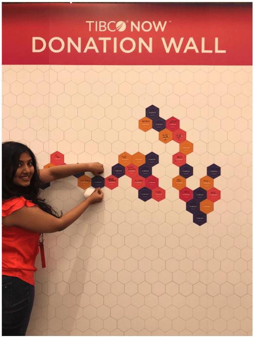 Screen Shot 2018 10 30 at 10.58.57 AM 2 TIBCO NOW Attendees Inspire with Donation Wall