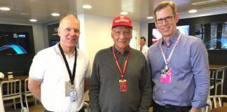 Niki Lauda with TIBCO's Murray Rode, Vice Chairman (left) and Thomas Been, Chief Marketing Officer