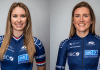 Kendall Ryan and Lauren Stephens of Team TIBCO-SVB Pro Cycling Team