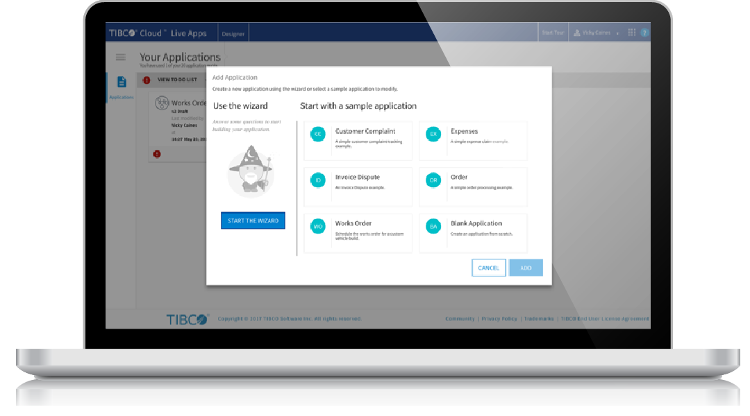 Build apps in minutes with TIBCO Cloud Live Apps
